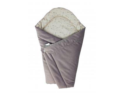 Rychlozavinovačka šípy / dusty violet velur minky