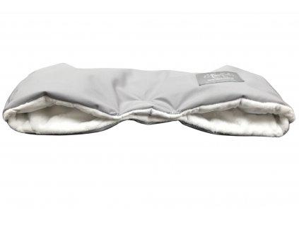 Rukávník softshell šedý / bílé hvězdy minky