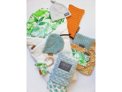 Newborn set pro miminko flora - neutral