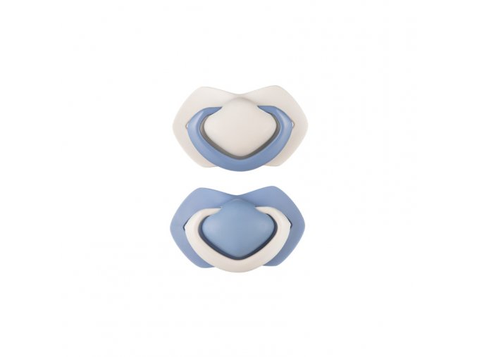 a canpol babies set symetrickych silikonovych dudliku 0 6m pure color modry (6)