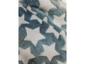 Polodupačky unisex - šedé hvězdy - teplé