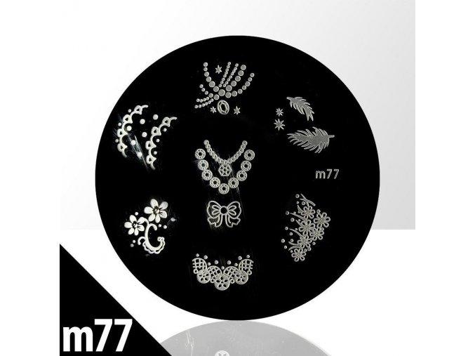 blaszka ze wzorkami do stempli m77n