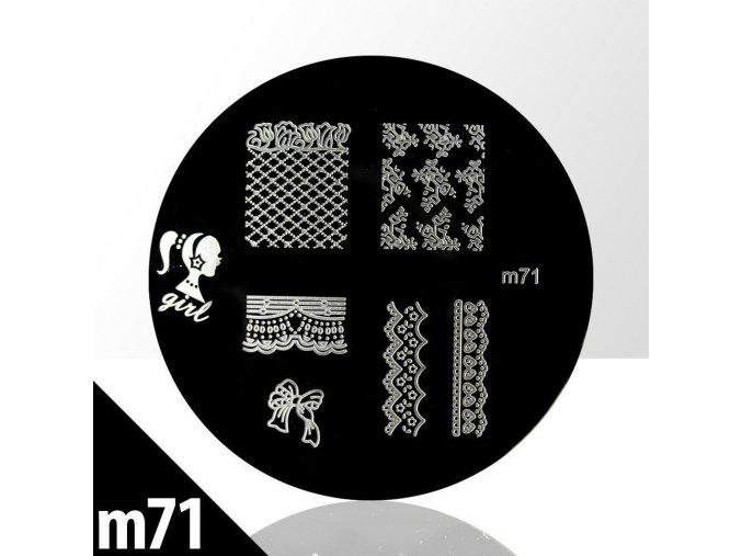 blaszka ze wzorkami do stempli m71n