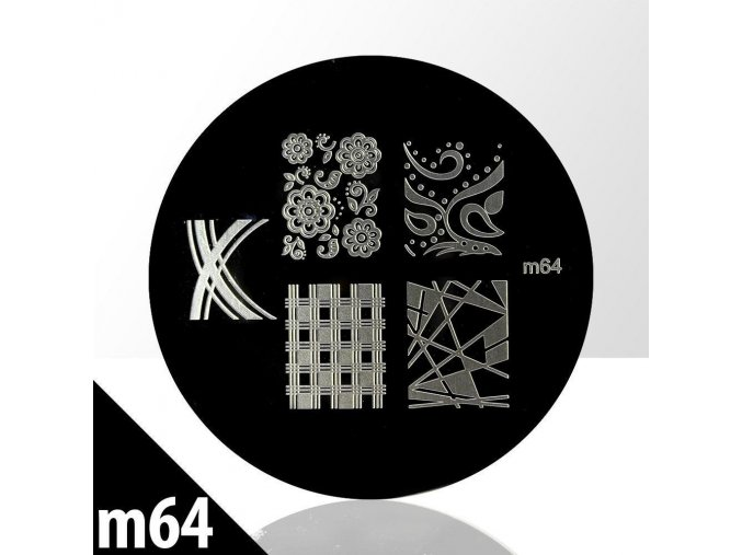 blaszka ze wzorkami do stempli m64n