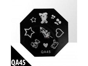 blaszka ze wzorkami do stempli qa45