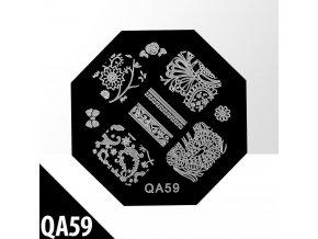 blaszka ze wzorkami do stempli qa59