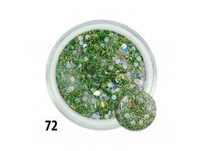 72 akryl kolorowy z drobinkami