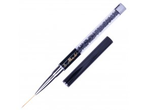 pedzel pedzelek do zdobien z wlosia naturalnego czarny z cyrkoniami mollylac art pro brush 19 mm nr 5