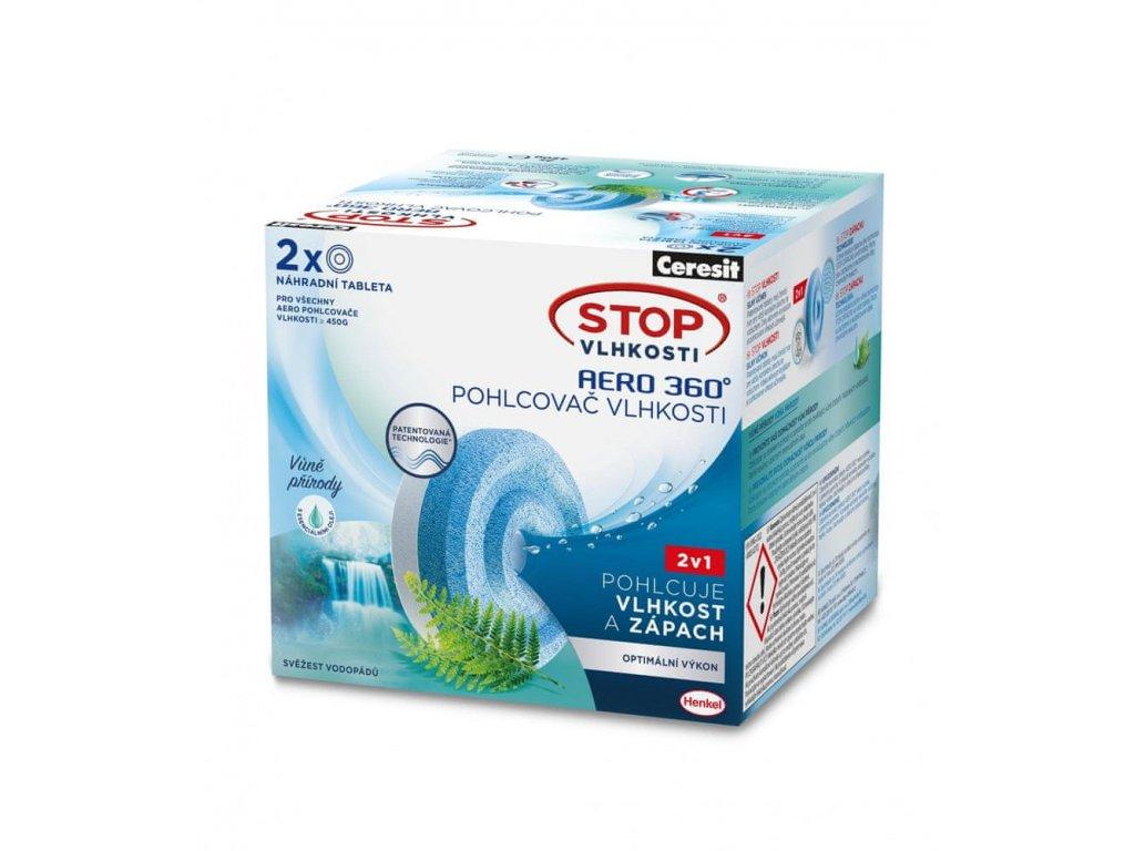 Ceresit STOP Vlhkosti AERO 360° Svěžest vodopádů náhradní tablety 2x450g