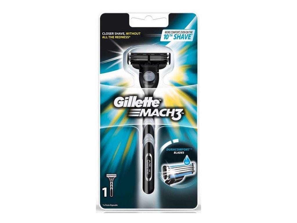 Gillette Mach 3 holící strojek + 1 hlavice