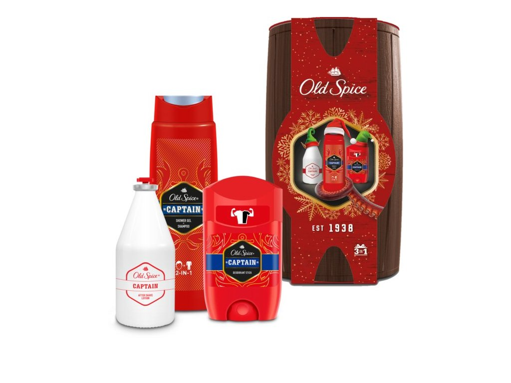 old spice captain wooden barrel darkova sada pro muze