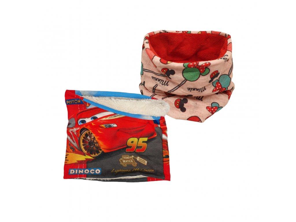 Dětský zimní nákrčník Cars a Minnie