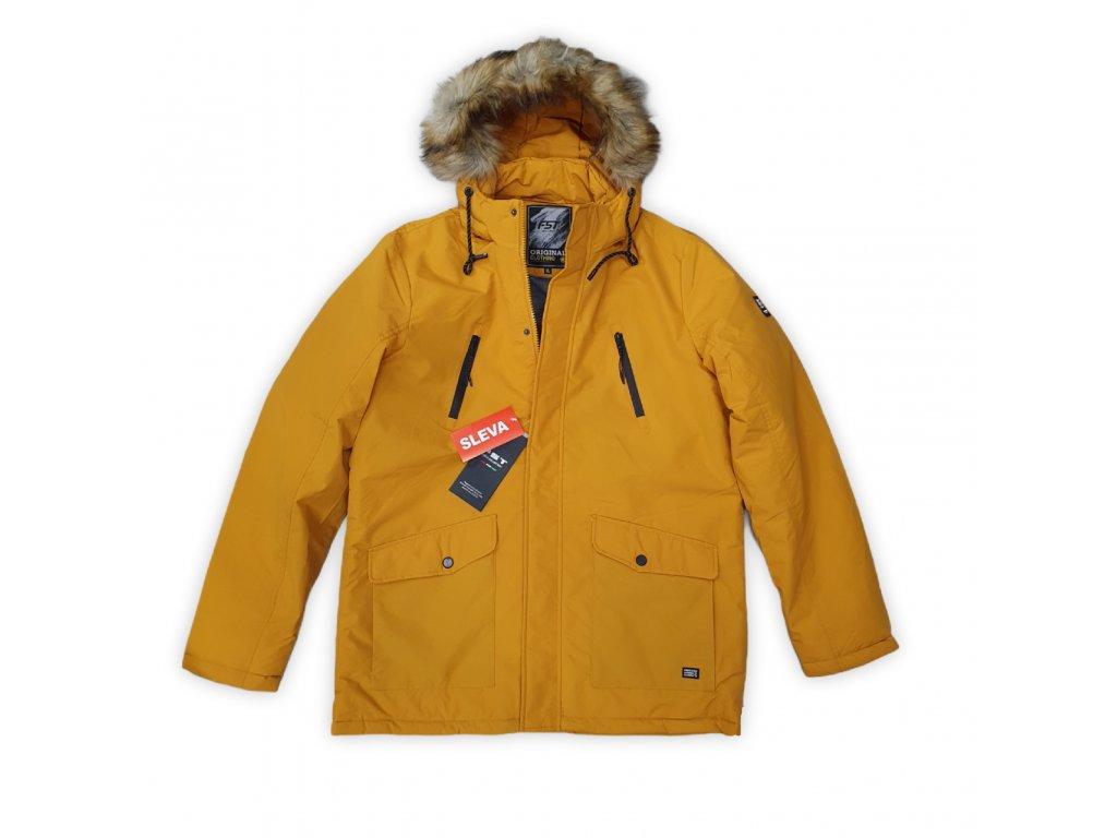 Pánská zimní bunda FST Mustard