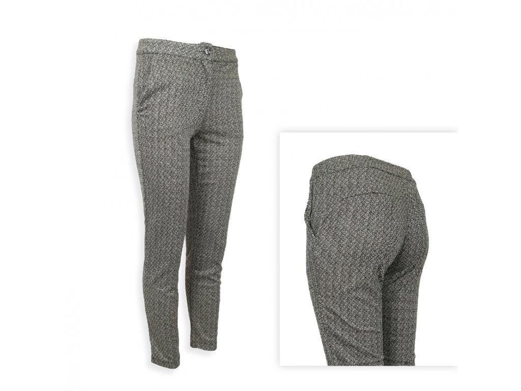 Elastické dámské kalhoty business