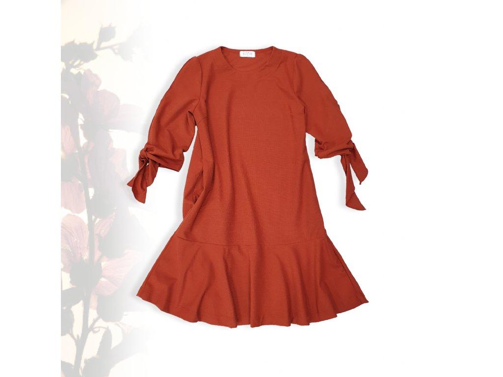 Dámské šaty cihlové