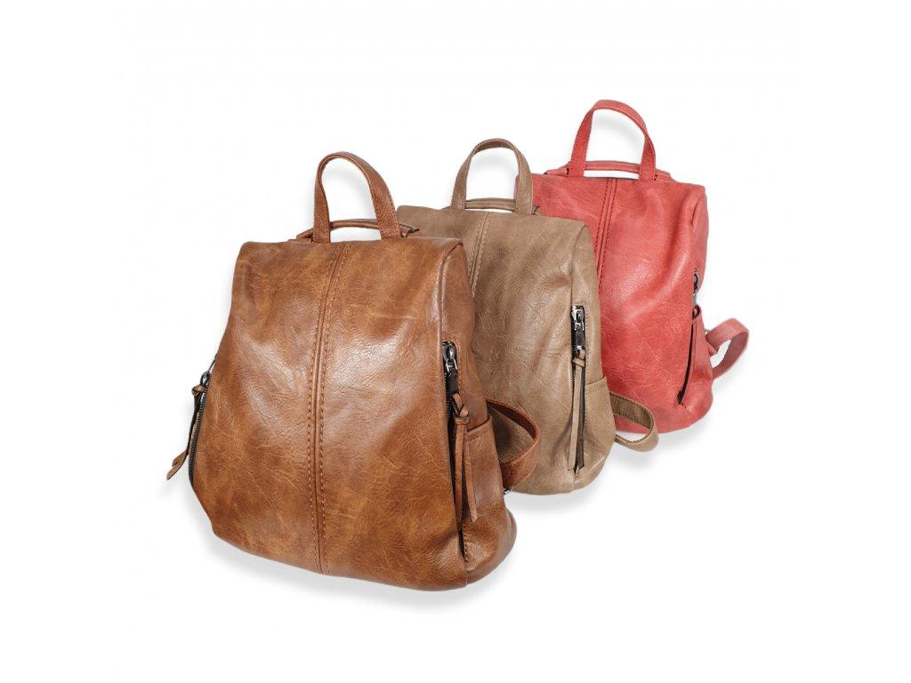 Dámský koženkový batoh