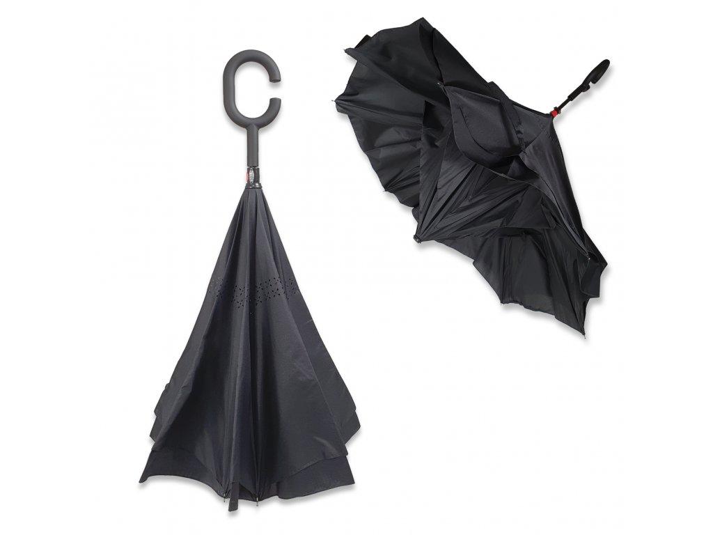 Obrácený deštník černý