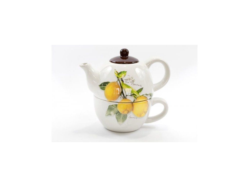 teapot with cup lemon ok 60zf1124lm