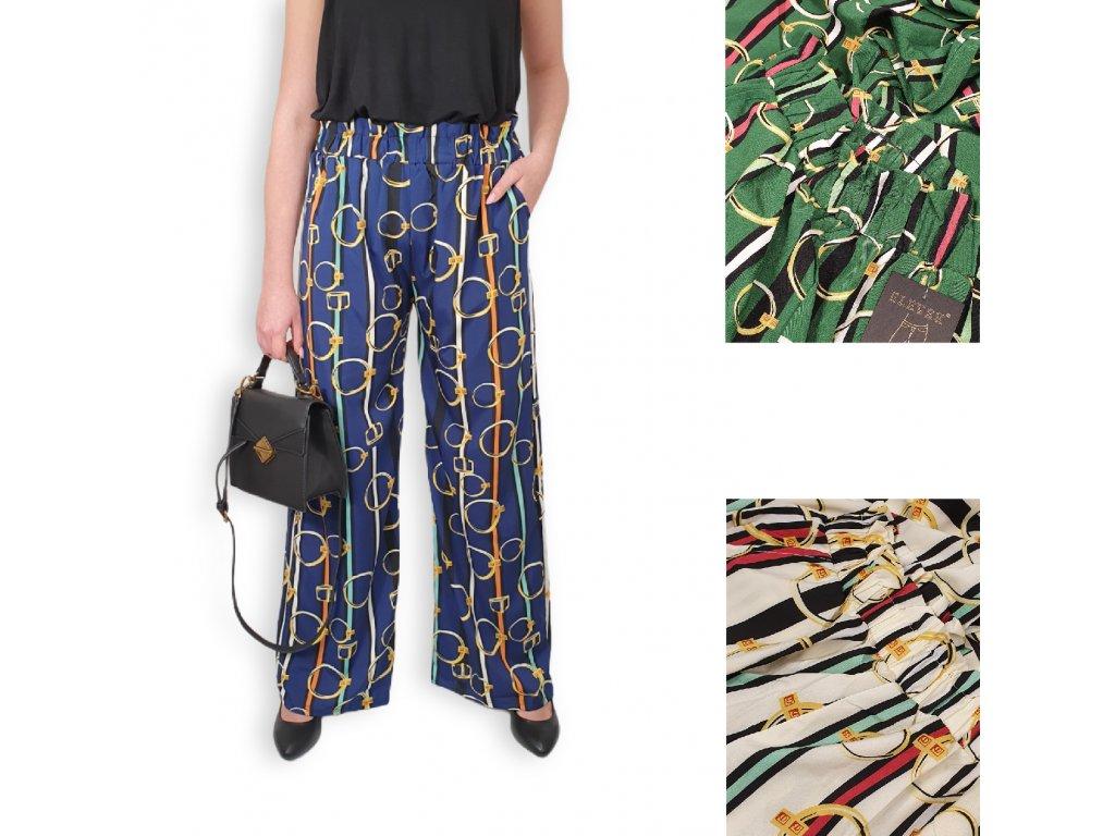 Dámské kalhoty s vysokým pasem Elevek