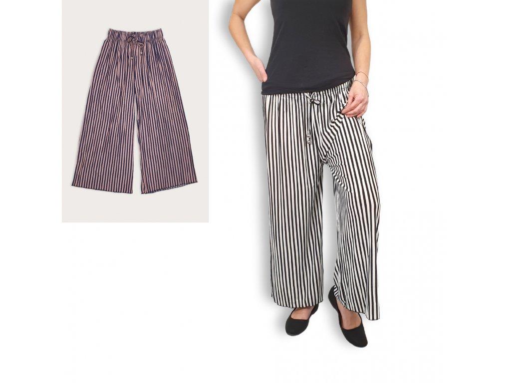 Letní široké kalhoty s bambusovým vláknem