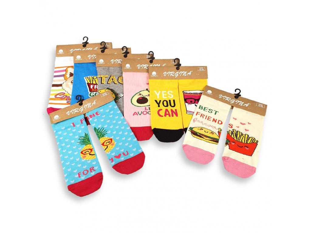 Veselé kotníkové ponožky FOOD