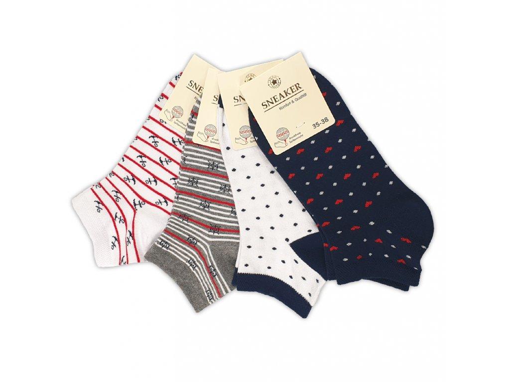 Dámské kotníkové ponožky Námořník (4 páry)