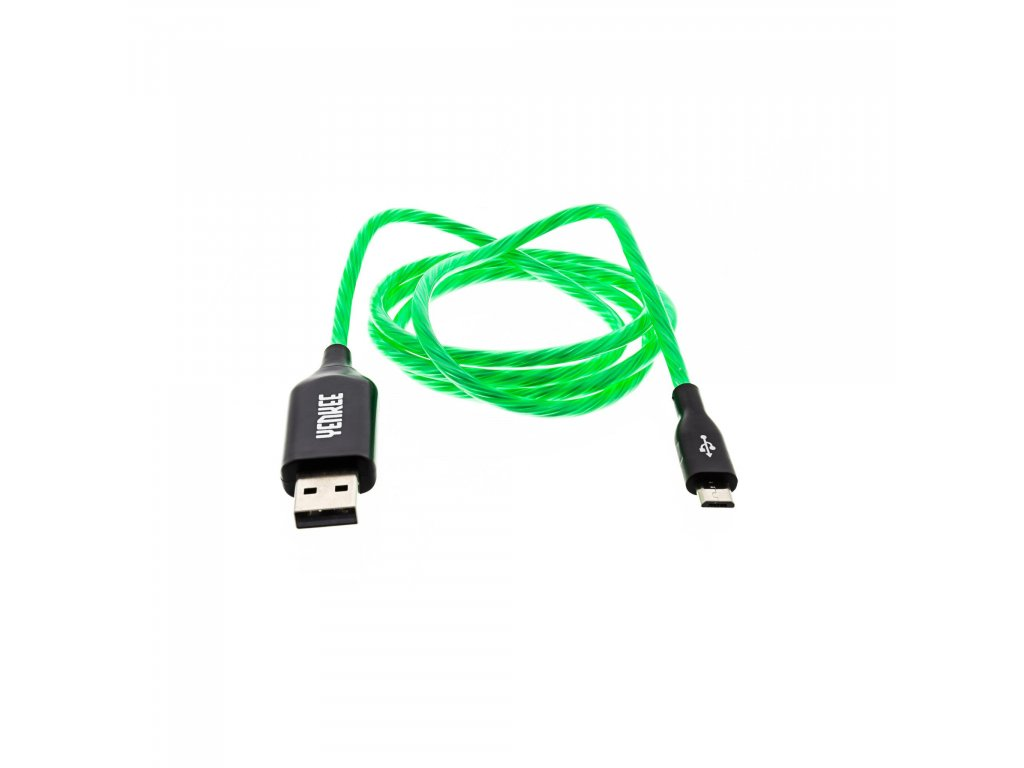 YCU 231 GN LED Micro USB kabel YENKEE