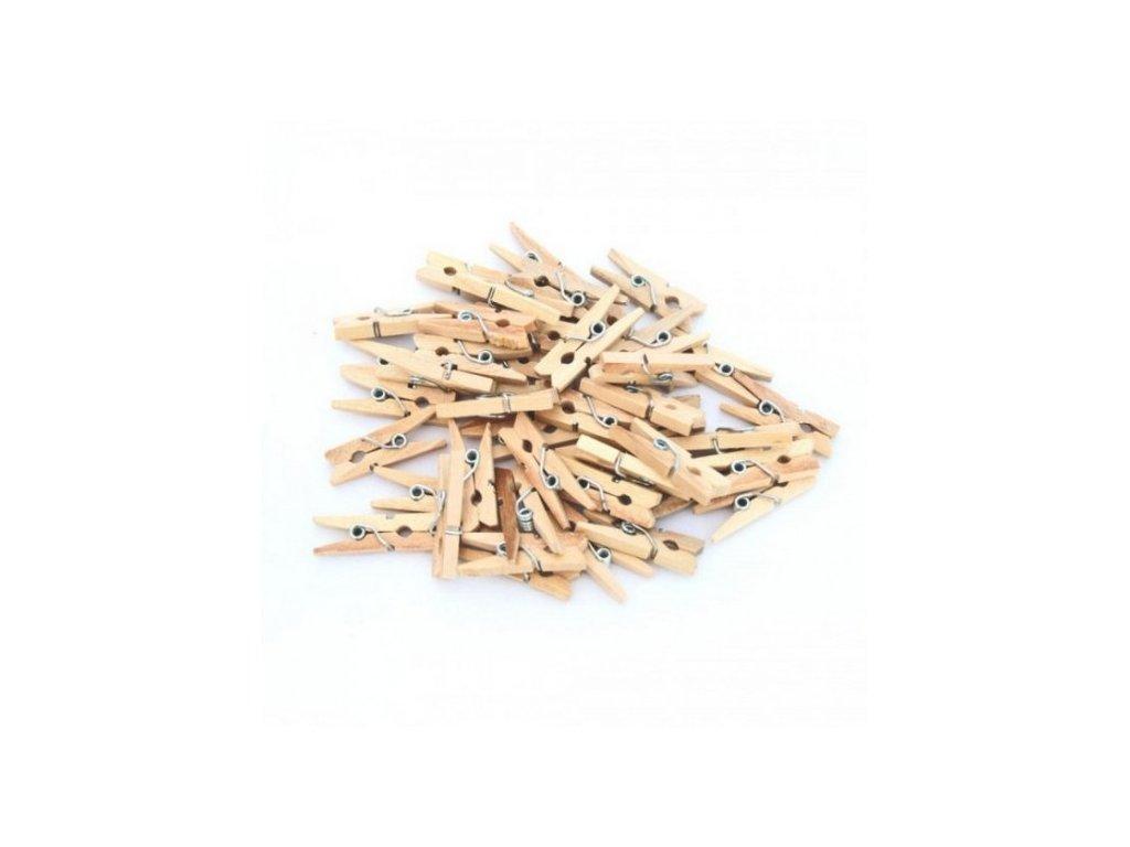 Kolíček - dřevěný - mini - 25 ks