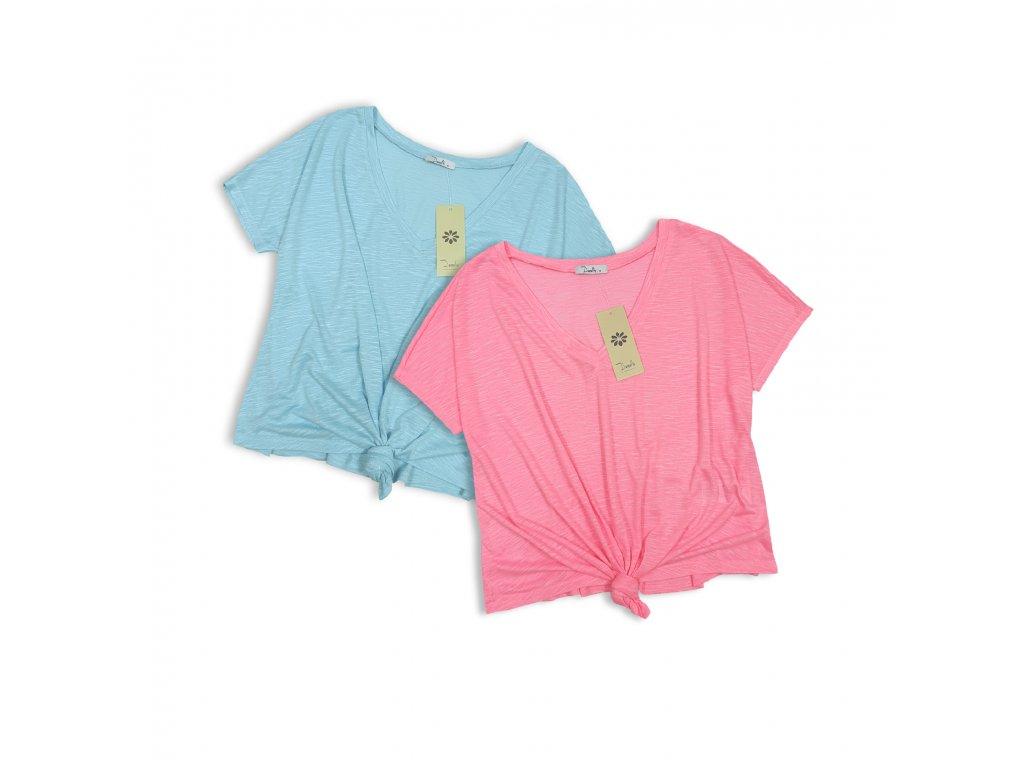 Dámské tričko s uzlíkem Neon