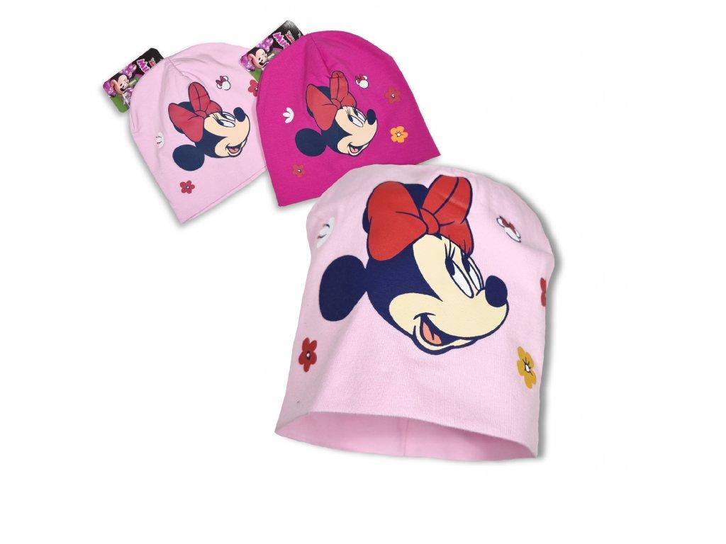 Dívčí bavlněná čepice Minnie Mouse
