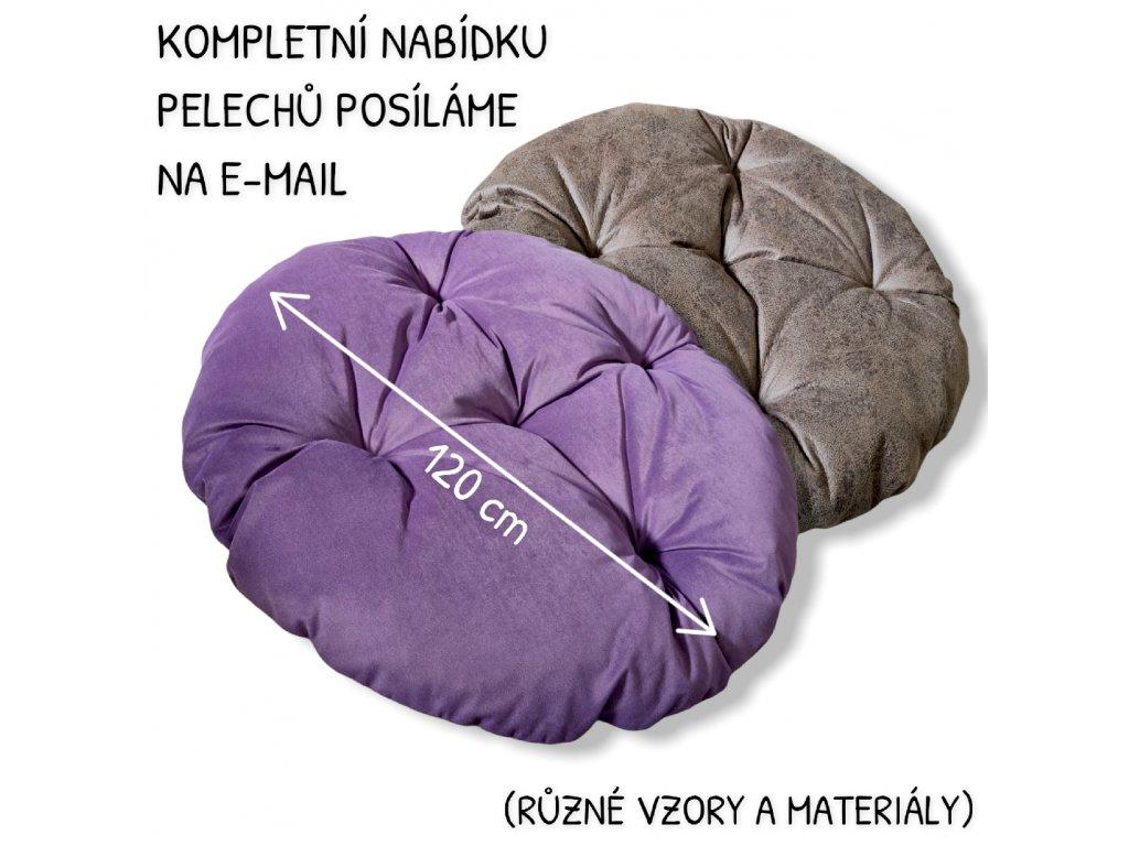Pelech - futon kulatý MAXI