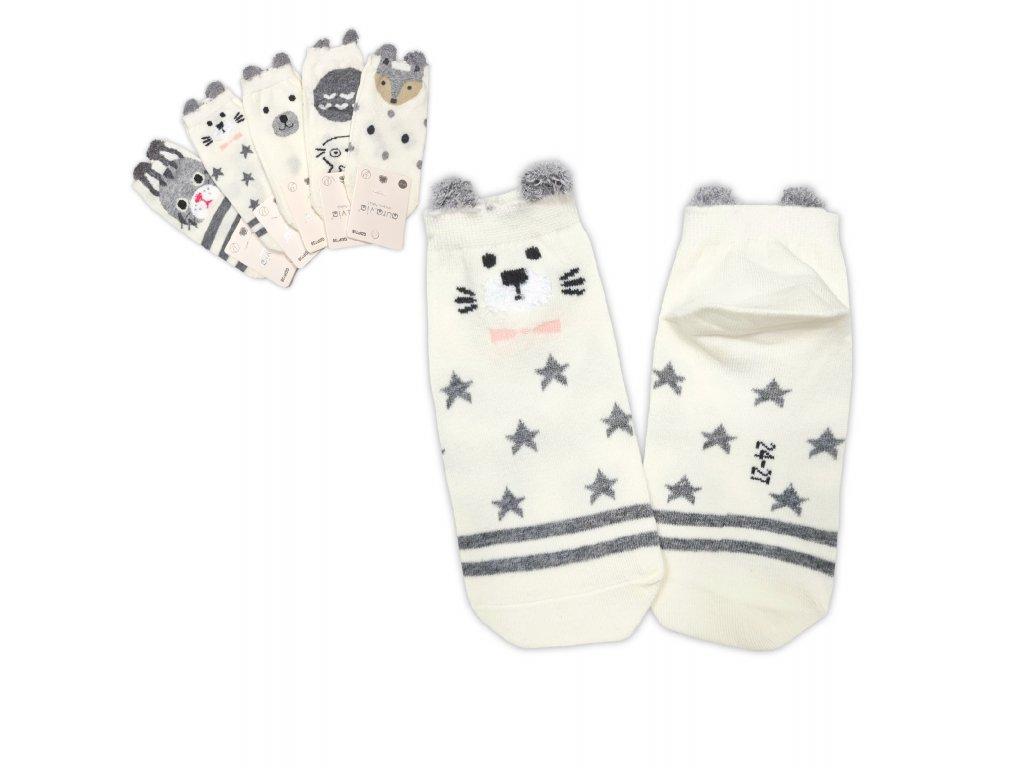 Dětské ponožky AURA zvířátka (5 párů)