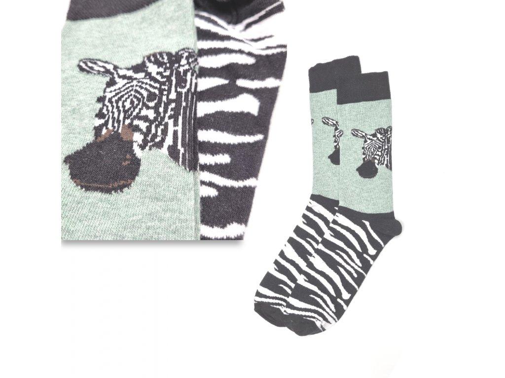 Veselé ponožky VIRGINA zebra