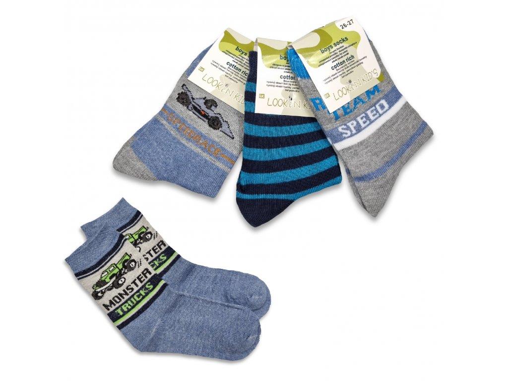 Chlapecké ponožky LOOKEN truck (4 páry)