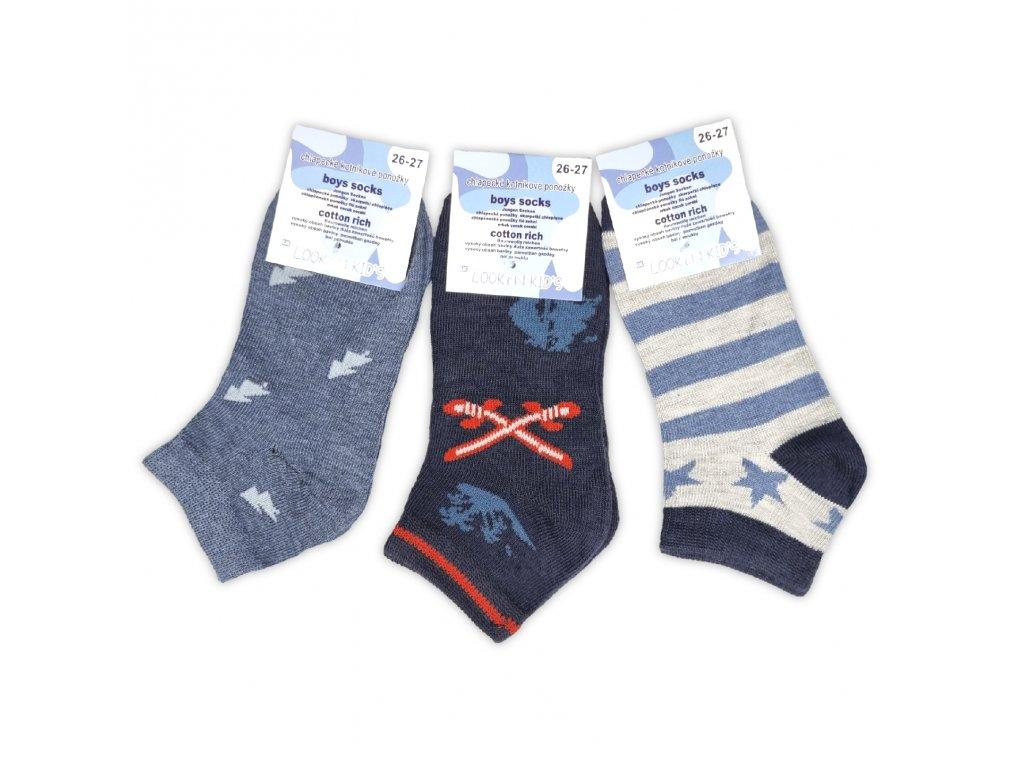 Chlapecké kotníkové ponožky LOOKEN ZTY-7360 (3 páry)