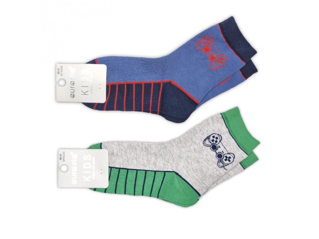 Veselé ponožky AURA gamer