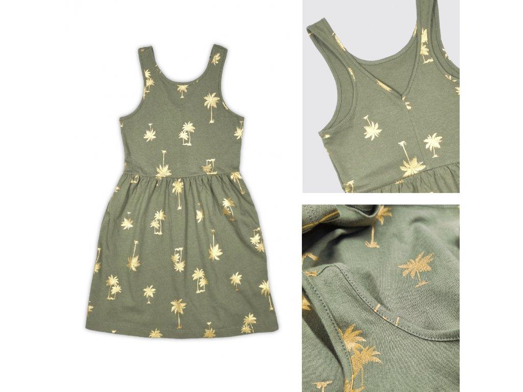 Dívčí šaty s palmičkami