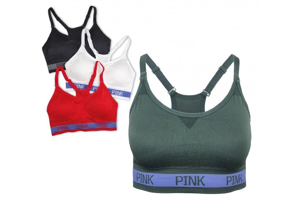 Sportovní podprsenka Classic Pink