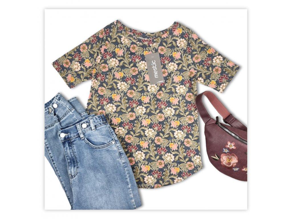 Dámské tričko s květinovým potiskem