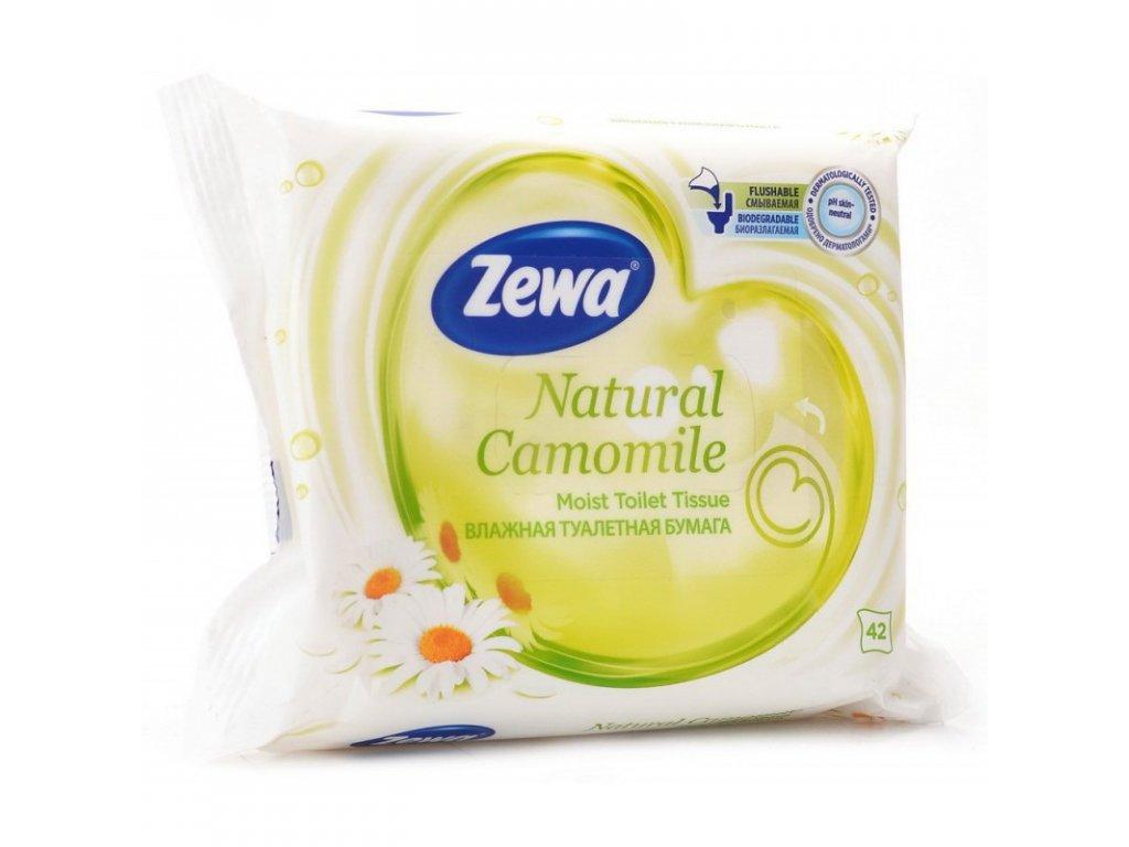 zewa natural camomile vlhceny toaletni papir bily 42 ubrousku