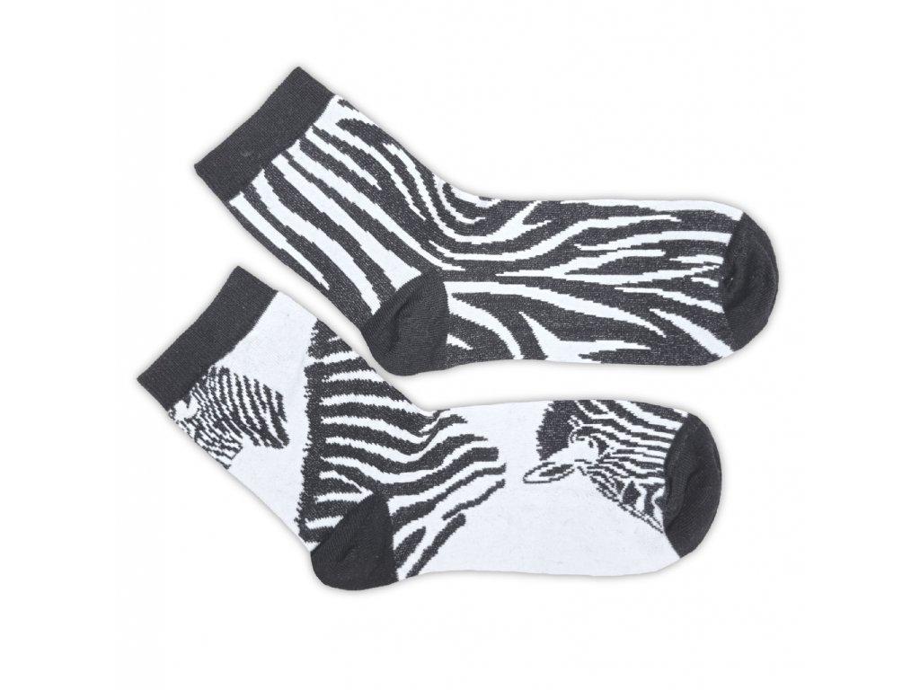 Veselé ponožky HDS zebra (každá jiná)