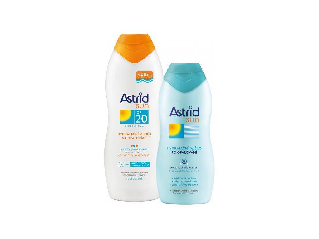 815112 astrid mleko spf20 400 ml poopalovani