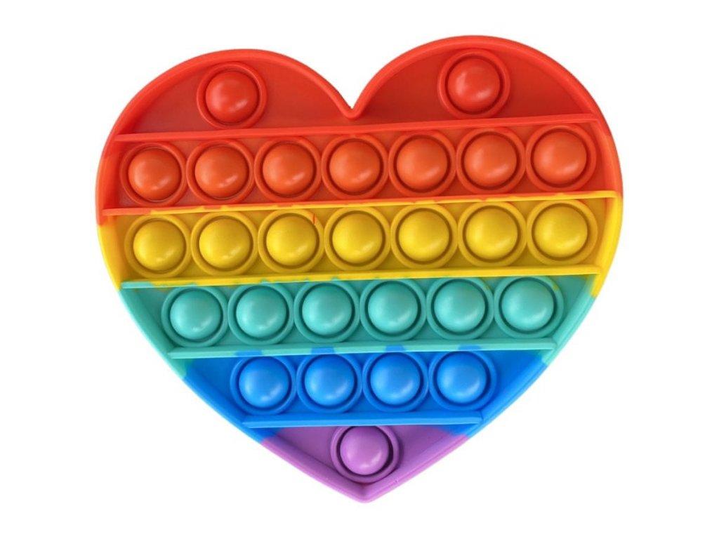 POP IT antistresová hračka - srdce 14,5 cm