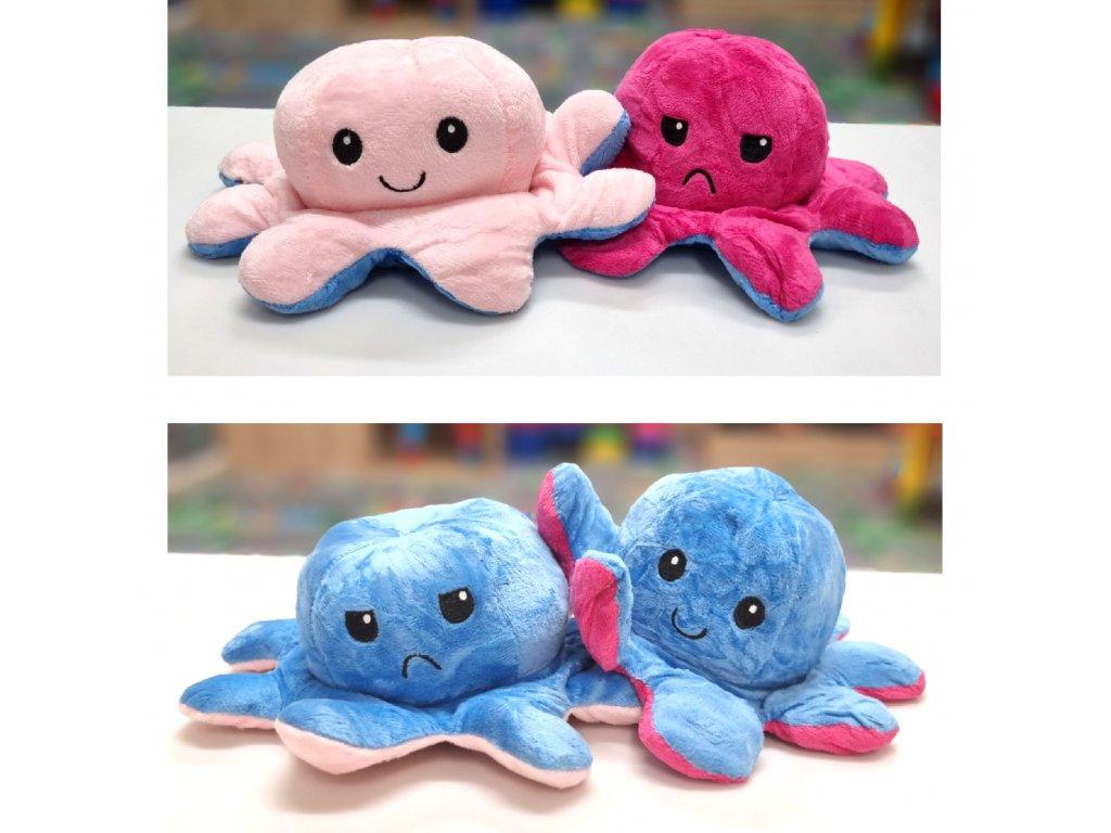 Náladová chobotnička střední - oboustranný plyšák