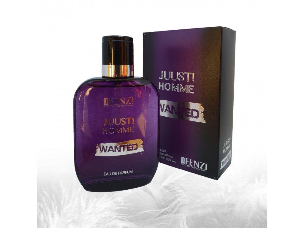 JFENZI JUUST! Homme WANTED Pánská sladká parfémová voda 100ml