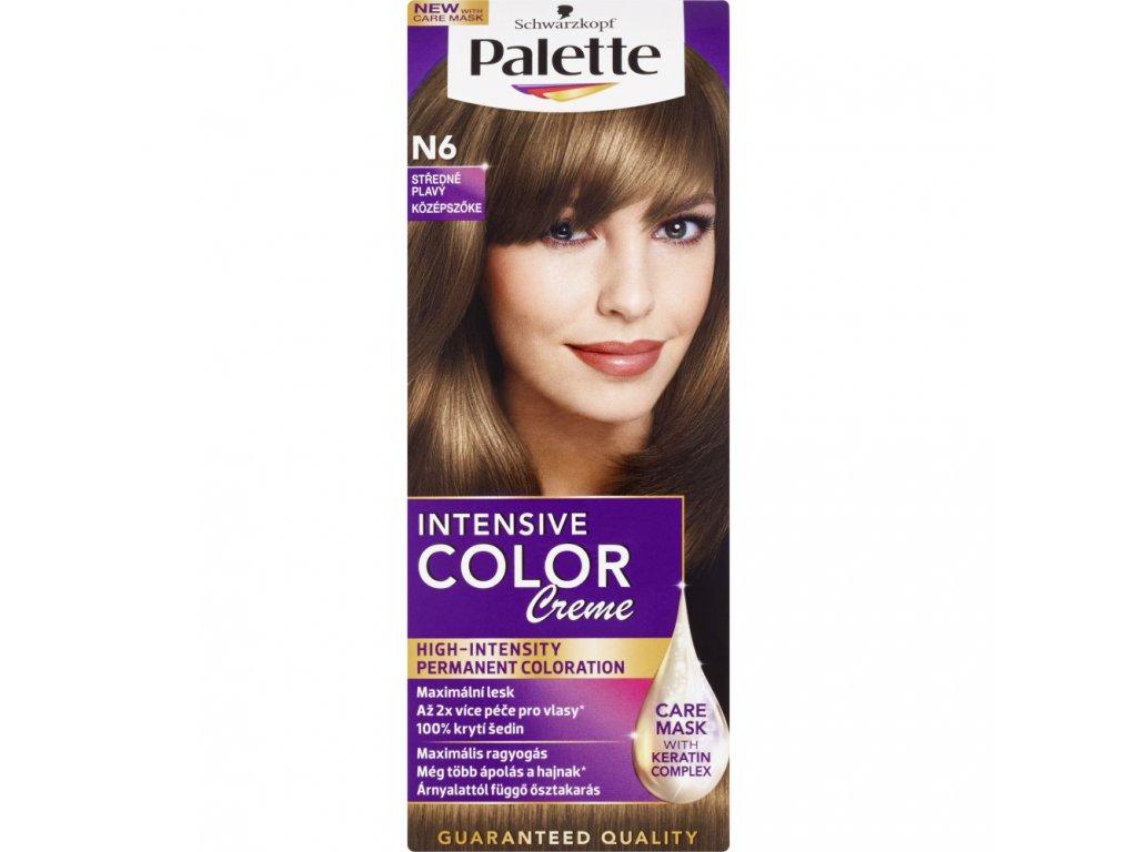 Schwarzkopf Palette Intensive Color Creme, barva na vlasy, N6 středně plavá, 50 ml