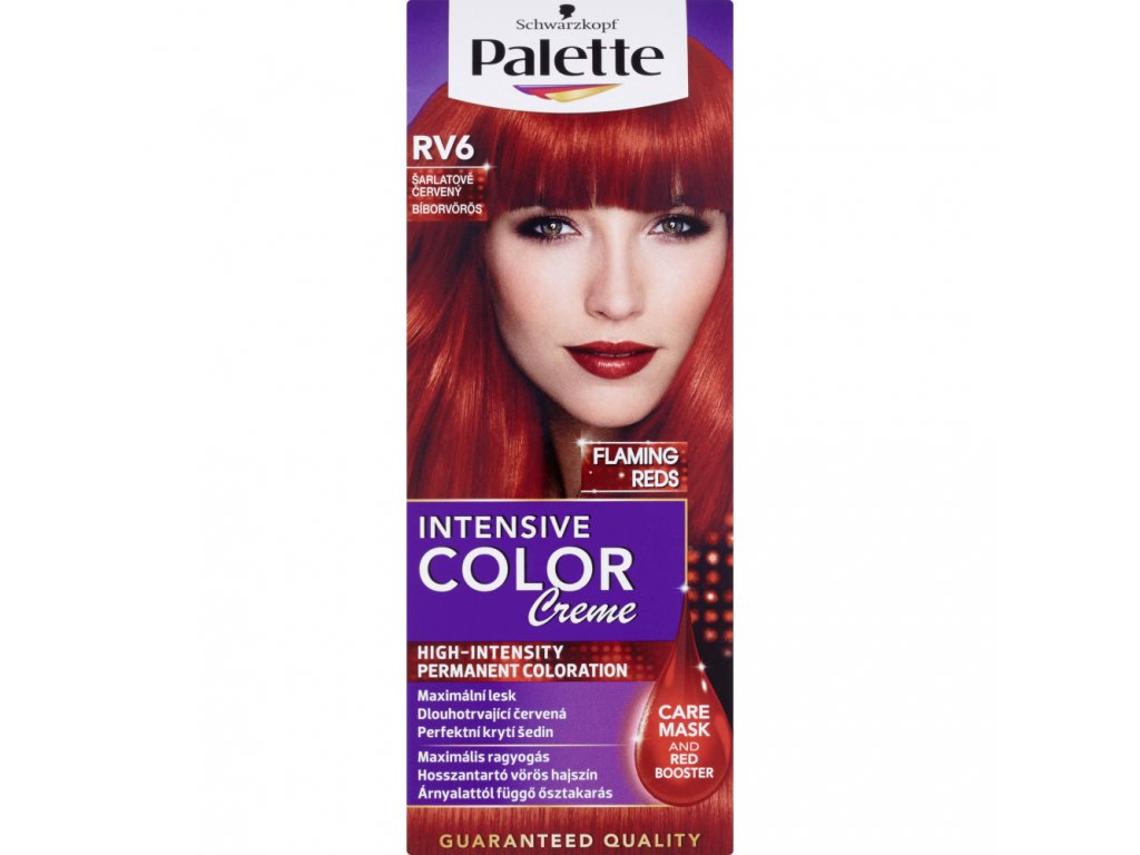 Schwarzkopf Palette Intensive Color Creme, barva na vlasy, RV6 šarlatově červená, 50 ml