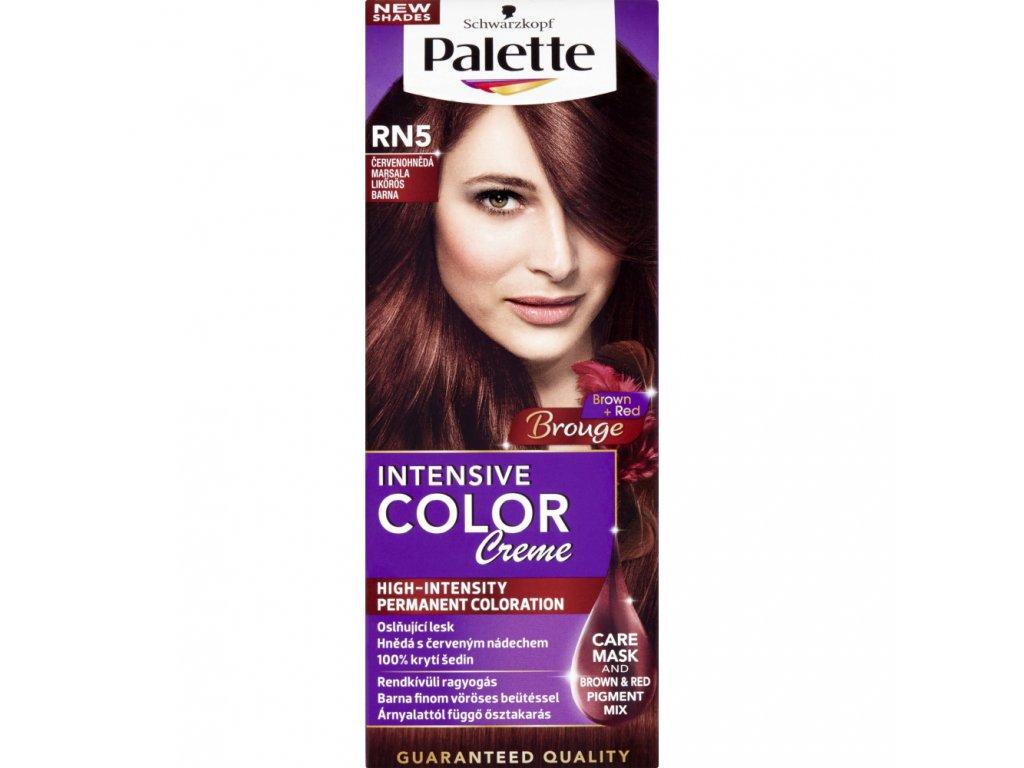 Schwarzkopf Palette Intensive Color Creme, barva na vlasy, RN5 červenohnědá marsala, 50 ml