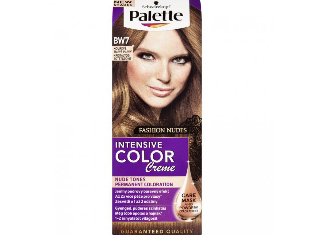 Schwarzkopf Palette Intensive Color Creme, barva na vlasy, BW7 kouřově tmavě plavá, 50 ml