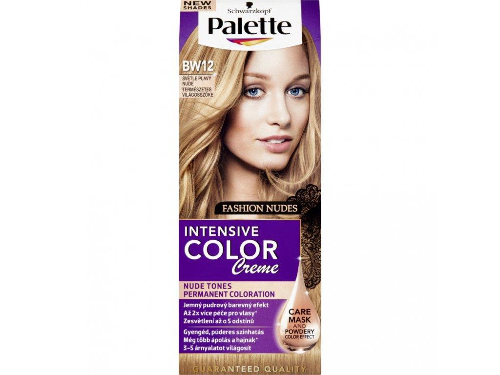 Schwarzkopf Palette Intensive Color Creme, barva na vlasy, BW12 světle plavá, 50 ml